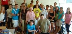 Schulklasse 5c am Gymnasium Heustadelgasse mit ZeitzeugInnen
